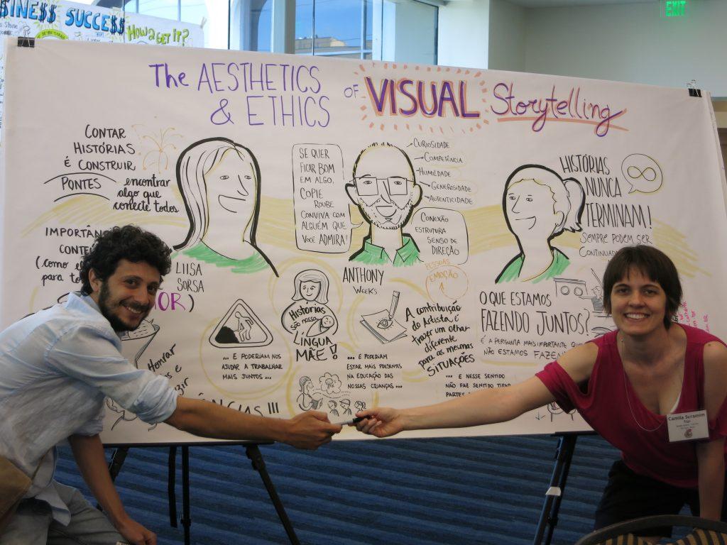 Camila Scramim Rigo und Victor Farat aus Sap Paulo, Brasilien übersetzten den Talk ins Portugiesische