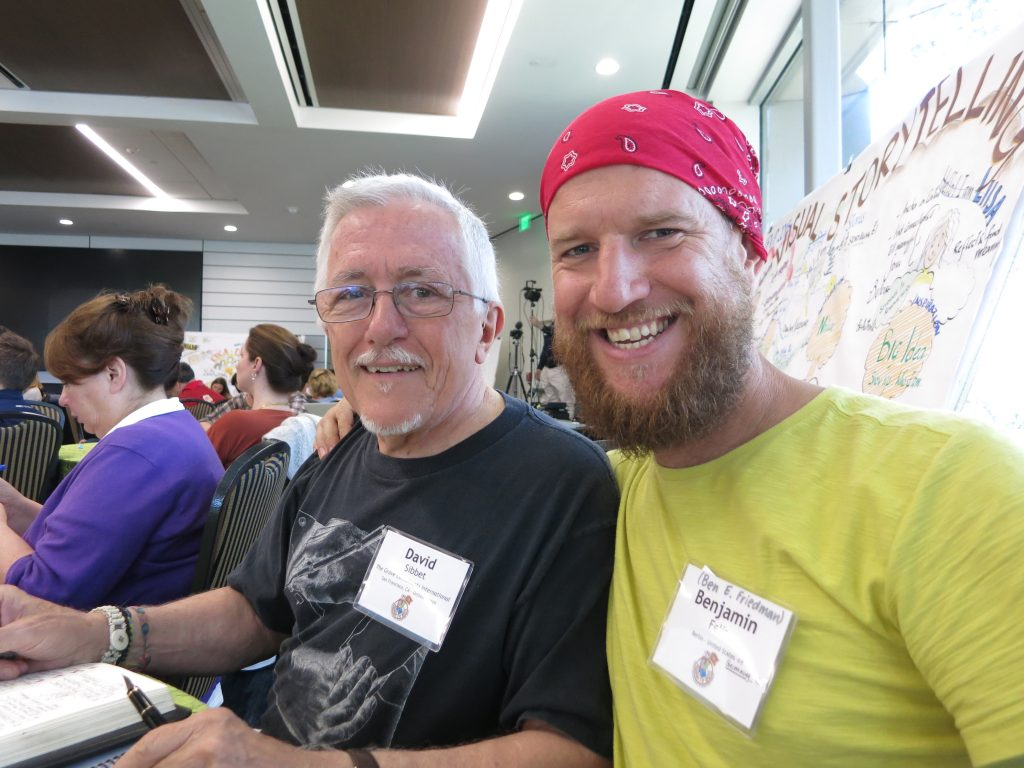 Graphic Recording Großmeister David Sibbet und sein Schüler Benjamin Felis