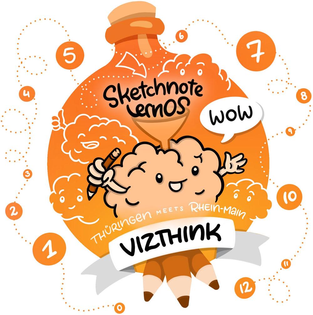 Logo Vizthink Thüringen Thema LernOS für Sketchnotes